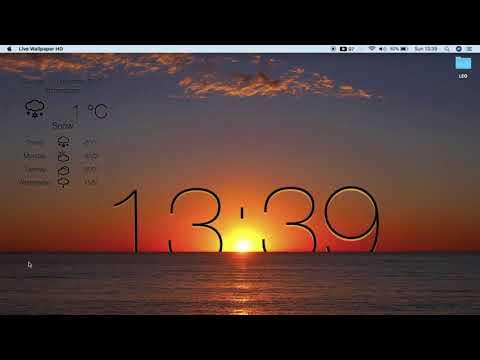 HOW TO GET FREE LIVE WALLPAPER & WEATHER WITH CLOCK HD FOR MAC || LIVE DESKTOP || # LEO HANSPAL