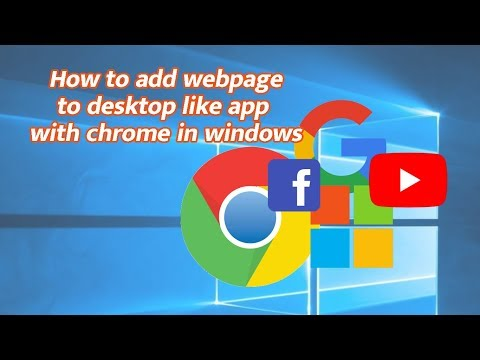 How to add webpage to desktop like app with chrome in windows