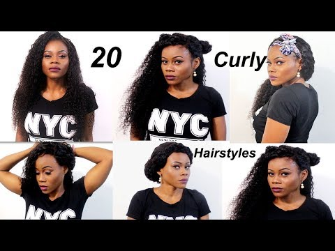 20 Quick & EASY CURLY HAIRSTYLES WITH EXTENSIONS |How to: Curly weave hairstyles| Longqi hair
