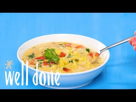 How To Make Copycat Panera Summer Corn Chowder | Recipe | Well Done