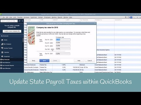 Tip: Update State Payroll Taxes within QuickBooks