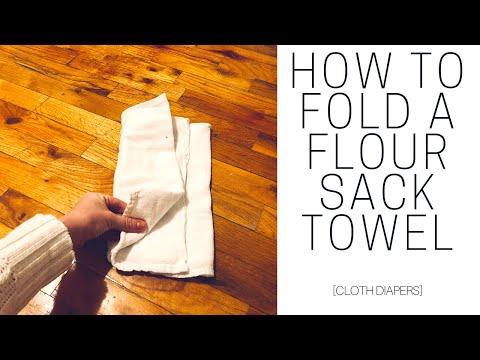HOW TO FOLD A FLOUR SACK TOWEL | Cloth Diapers