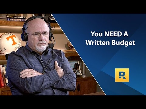 Dave Ramsey Rant - You NEED A Written Budget
