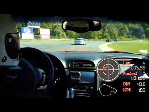 Lime Rock onboard Corvette C5 Z06 with data overlay