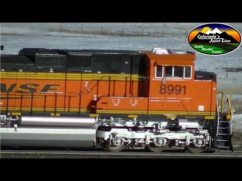 Unusual BNSF Reverse Running on Colorado's Joint Line - Mar 2015