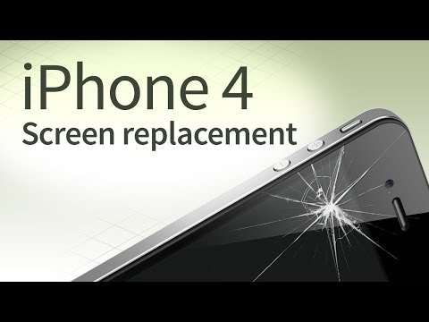 iPhone 4 screen replacement disassembly and reassembly [english]