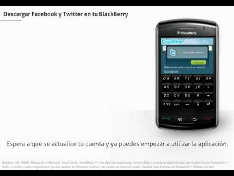 BlackBerry Storm - Facebook y Twitter en tu Blackberry