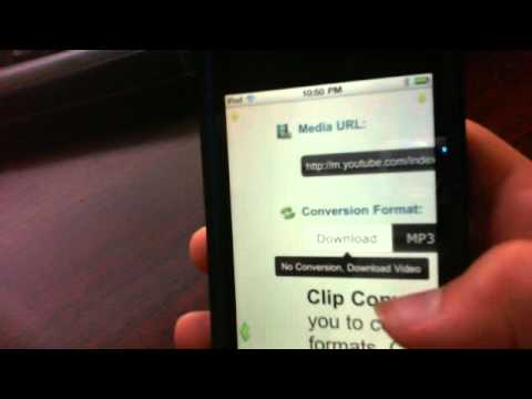 How to download videos from youtube to your ipod touch without wifi!!