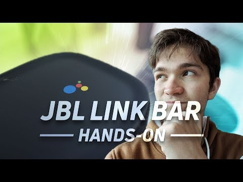 JBL Link Bar Hands On at Google I/O 2018