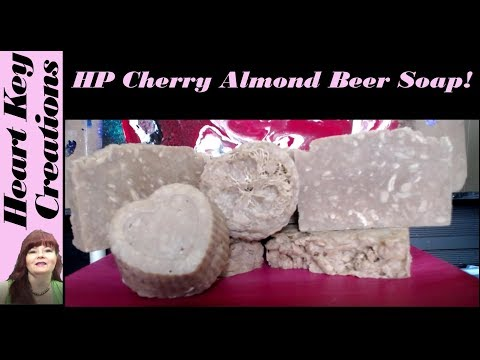 Making HP Cherry Almond Beer Soap