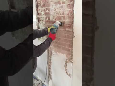 Uncovering exposed brick wall part 2/3