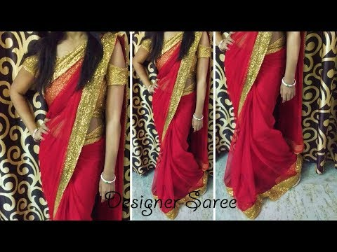 How to Make Party Wear Designer Saree | How to Make Designer Saree | Designer Saree By Mausam Singh