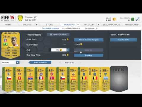 FIFA 14 Ultimate Team - How to Make Fast Coins With Little Money Ep.1