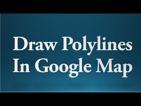 Android tutorial for beginners - 84 - Draw polylines in Google Map