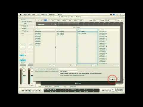 Logic 102: Exploring The EXS24 - 05. Converting Akai Sample CDs