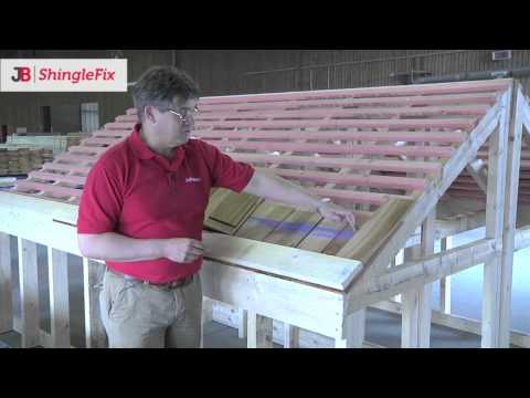 JB ShingleFix - Quick installation of cedar shingles