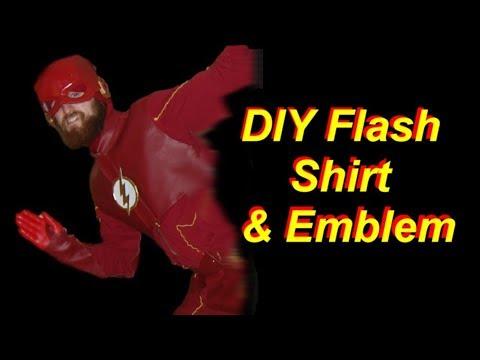 DIY Flash Costume Part 1: Shirt & Emblem