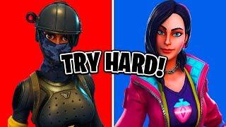 10 Most TRYHARD Fortnite Skins! (Skins Sweaty Fortnite Players Use)