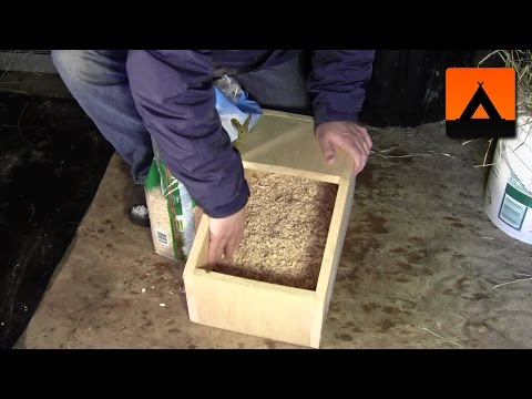 How to prepare a rabbit nest box