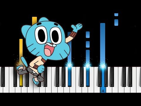 The Amazing World of Gumball - Theme Song - Piano Tutorial