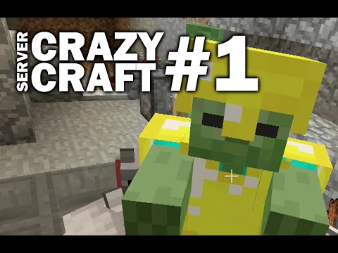Minecraft PS4 -  SEEDS AND SERVERS - CRAZY CRAFT #1 - Let's Play WII