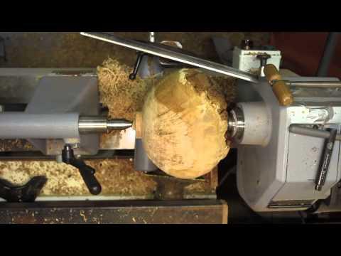 Wood Turning - Natural Edge Oak Burl Bowl