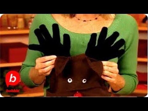 How to Make a Christmas Reindeer Winter Hat | Crafts | Babble