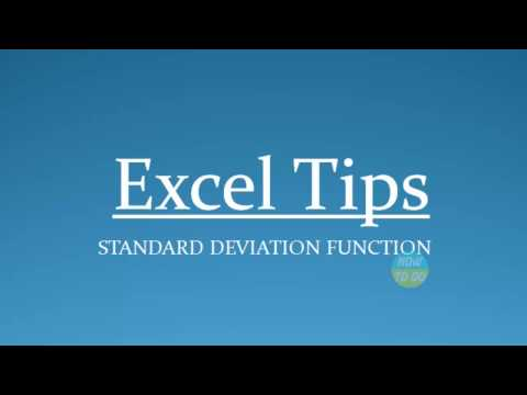 How To Use Standard Deviation Function In Excel