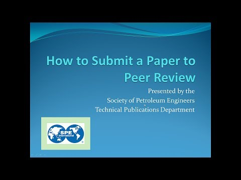How To Submit a Paper to Peer Review