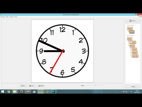 How to Make Analog Clock Animation on Greenfoot