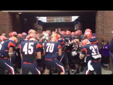 Hobart College Football Team Taking Field vs. Union College