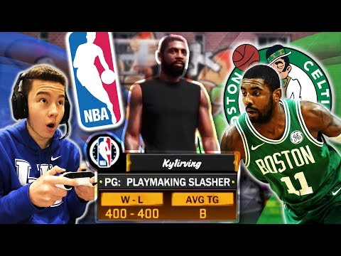 PLAYING KYRIE IRVING IN MYPARK!! I MADE HIM QUIT! - NBA 2K18 | PeterMc