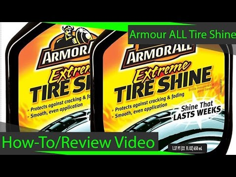 MAKE YOUR TIRES LOOK LIKE NEW - Armour All Tire Shine