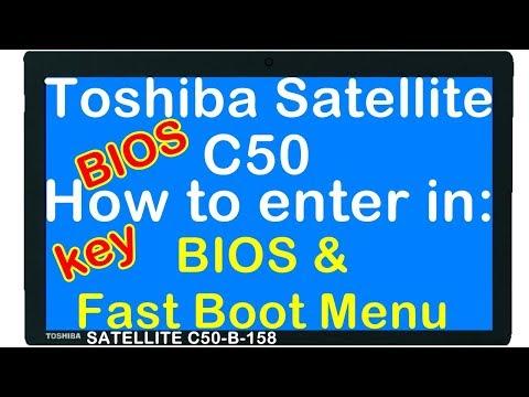rd #252 Toshiba Satellite C50 BIOS key and Fast Boot Menu key