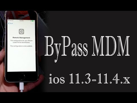 How To Bypass MDM 11.3.X later all ios iPhone | iPad | iPod