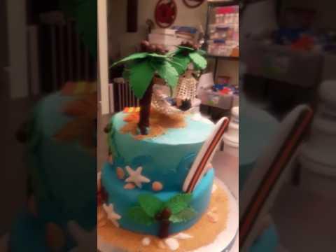 Beach Breeze Birthday Cake