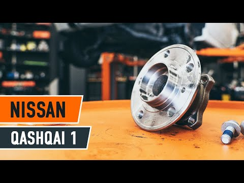 How to replace a Rear wheel bearing on NISSAN QASHQAI 1 TUTORIAL | AUTODOC