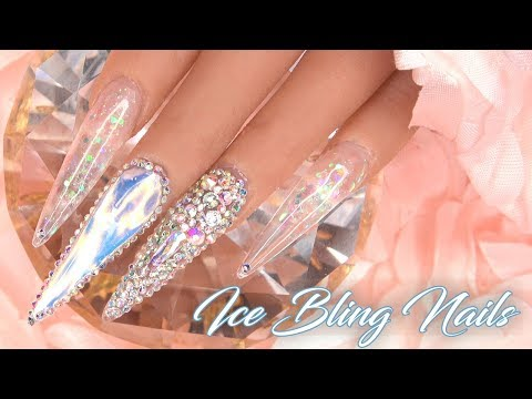 Ice Bling Nails | Acrylic Nails with Tips | LongHairPrettyNails