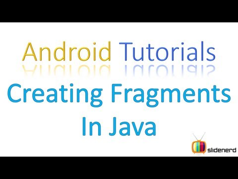 116 Adding Fragments in Java Part 1 |