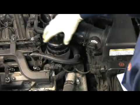 FRAM Cartridge Oil Filter change on Hyundai/Kia V6