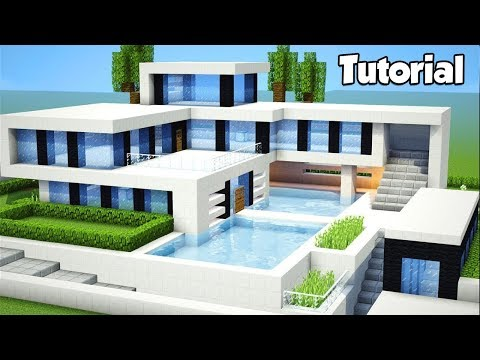 Minecraft: How to Build a Large Modern House - Tutorial (#2)