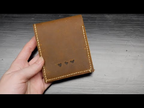DIY Leather Wallet // Becky Stern
