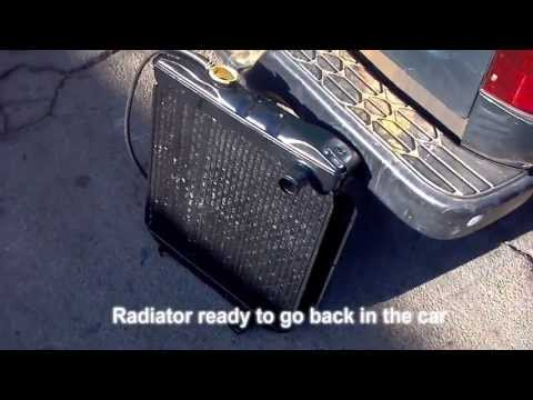 1966 Mustang Cooling System Power flush and Radiator repair and restoration