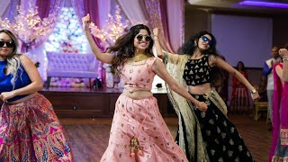 AMAZING SISTERS & FAMILY  BOLLYWOOD DANCE AT INDIAN WEDDING RECEPTION | ShivShwetKiShaadi