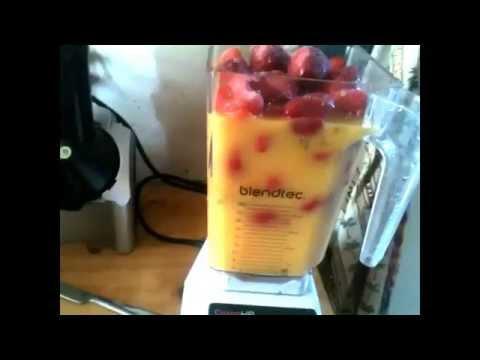 Passion fruit, Orange juice, Strawberry smoothie recipe! Plus ultra bros reminder.