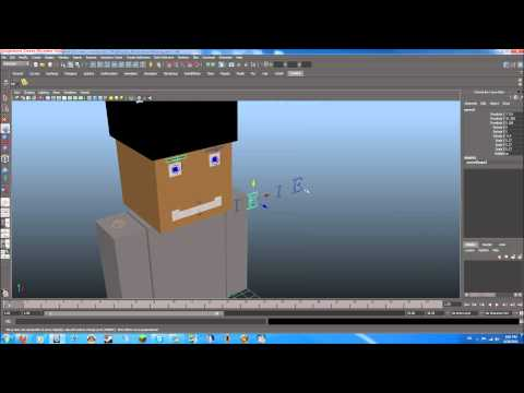 Autodesk maya tutorial minecraft character modeling rigging part 6