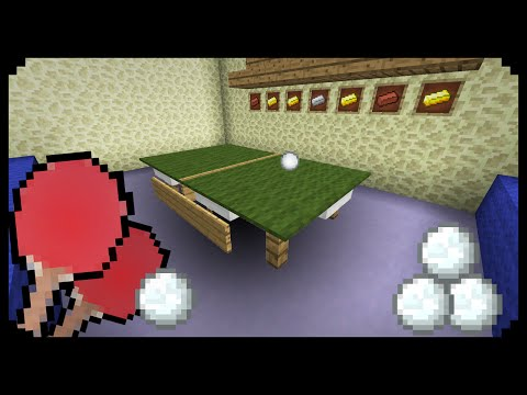 ✔ Minecraft: How to make a Ping Pong Table