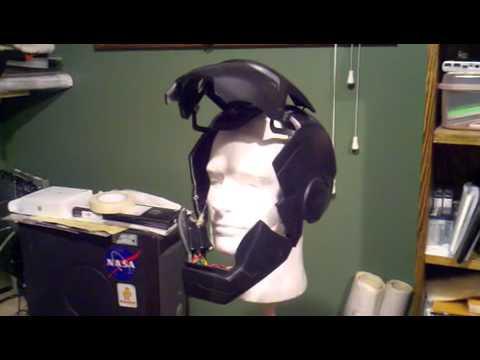 Animatronic Iron Man helmet wireless