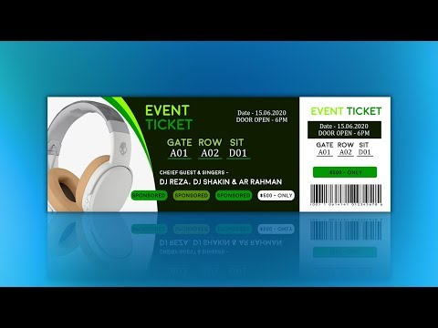 How to Create Event Ticket Design Tutorial in Photoshop