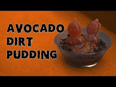 Avocado Dirt Pudding for Halloween!!